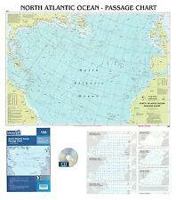 CARTA NAUTICA - NORTH ATLANTIC OCEAN - PASSAGE CHART - reptoi -
