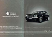Publicité Advertising 018  2009   Chrysler série spéciale 300c  20° ann (2p)