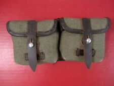 WWII German Green Canvas 2-Cell G41 K41 G43 K43 Ammo Belt Pouch - Reproduction