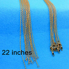 Wholesale Jewelry 10PCS 22inch 18K Gold Filled Rolo Chain Necklaces Pendants