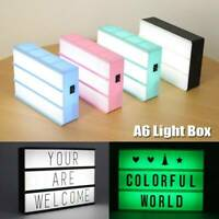A6 Size LED Combination Night Light BoxLamp DIY Letters Cards  Cinema Lightbox,