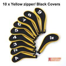 Golf Club Iron Head Covers Zipper Protect Match Callaway Ping Golf  Bag x 10