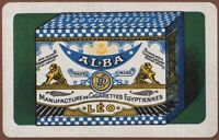 Playing Cards 1 Single Card Old ALBA CIGARETTES Advertising Art Packet Tobacco