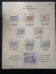Greenland 1971-1977 Mail Transport Set 8 SG 77-84 MNH , 1988 1v SG 194 MNH (1144