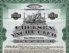 1911 New Jersey: Chelsea Yacht Club - $100 Gold Bond