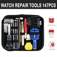 147Pcs Watchmaker Watch Repair Tool Remover Spring Pin Bar Kit Back Case Opener