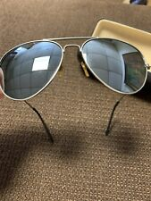 Rare VTG silver Mirror USA Pilot Aviator Sun Glasses original 70s 80s Retro Cool