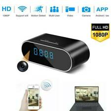 1080P HD Wecker Kamera WiFi Wireless Cam Nachtsicht Sicherheit DVR Bewegung DE