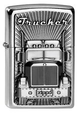 ZIPPO Feuerzeug TRUCKER Street Chrome Truck Lastzug Transporter LKW NEU OVP