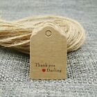 Paper Gift Tags Kraft Hanging Wrap Accessories 100 Pcs/Lot Tag And Strings Tools