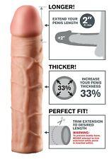 Prolunga fallica guaina realistica indossabile per il pene sex toys uomo extensi