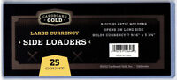 (25) Ultra CBG Pro Large Bill Currency Toploaders Topload Holders Cases 7.5x3.5