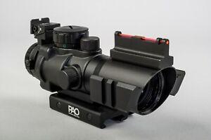 PAO ® 4 x 32 Tri-Lume™ Prismatic Mil-Dot Ultra-Compact 'ACOG'* Scope