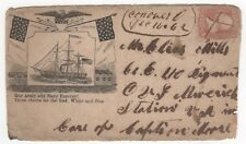 Our Army and Navy Forever CIVIL WAR PATRIOTIC COVER BISCHEL 1066 US SCOTT 65