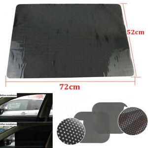 "2Pcs Car Side Window Sun Shade Block Cover Large 28"" x 20"" Static Cling Screen"