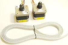 2 x Nema 17 Stepper Motors Timing Belt RepRap Makerbot Prusa Mendel 3D Printer