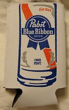 "Pabst Blue Ribbon Beer Can Coozy - Coozie ""ONE PINT""...Fits 16 Ounce Can...NEW"