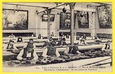 """cpa ATELIER de TAPIS et TAPISSERIE d'AUBUSSON """"HAMOT"""" 75 rue de RICHELIEU PARIS"""