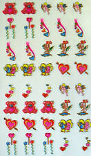 Nail Art, Water Decals 40 per sheet Teddy bears, balloo