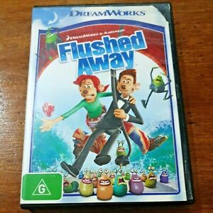 Flushed Away Hugh Jackman DVD R4 Like New! FREE POST