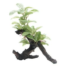 Fluval African Shade Leaf Artificial Plant on Log 20cm