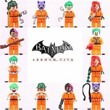 12pc Superheroes Dc comics Prison Arkham Asylum Joker Ivy mini figures fits Lego