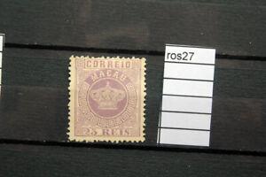 stamps MACAU (CHINA) 1885 CROWN  23 reis  violet  Scott 7 mint no gum (ros27