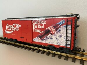 """LGB 4291 :: Coca-Cola """"Can't Beat The Real Thing"""" Boxcar G-Scale"""