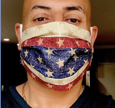AMERICAN FLAG- Face Mask- MADE IN USA  Washable and Reusable 100% Cotton