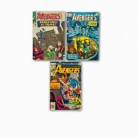 Avengers LOT #20 #73 #168 Marvel 2.5 3.0 GD+ GD/VG Silver Bronze Age Comic Book