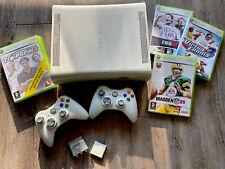 Top-Zustand: XBOX 360 Arcade - Komplett mit 2 Controllern + FIFA 08, NFL...