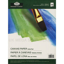 """ROYAL & LANGNICKEL ESSENTIAL Canvas Paper Artist Pads 10 SHEETS 9""""x12"""""""