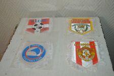 LOT 4  ANCIEN  FANION FOOTBALL PARIS FC LIVERPOOL STADE DE REIMS US JOA VALENCE