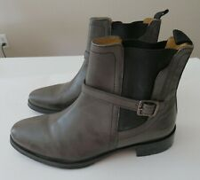 MELVIN & HAMILTON CLEO 24 Womens Gray Taupe Leather Chelsea Boots Sz US 6 EU36