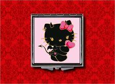 HELLO DEVIL KITTY CAT KAWAII MAKEUP POCKET COMPACT MIRROR