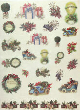 Rice paper Christmas Greeting for Decoupage Decopatch Scrapbook Craft