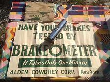 NOS NIB vtg 50s Alden-Cowdrey 'Brake-O-Meter' Tapley meter + box & shop display!