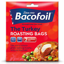 Bacofoil Easy Roast Turkey Roasting Large Cook Oven Bags - 45x55cm - Pack of 2