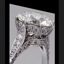 3.52 Ct  Edwardian Antique/Style Genuine Natural Diamond Engagement Ring VS2 F