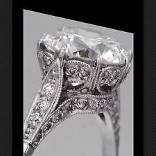 3.52 Ct  Edwardian Antique/Style Genuine Natural Diamond Engagement Ring VS1 F