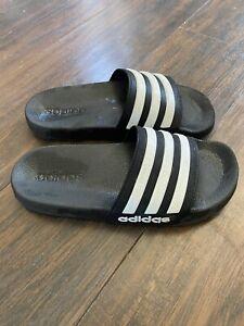 Adidas Slides Kids Slide Sandal Youth Kid size 2 EUC Stripes
