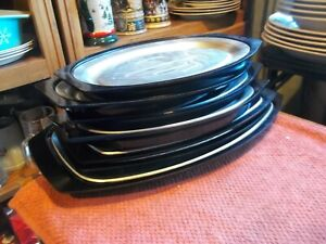 7- Nordic Ware Steak Plates / Platters  Serv-a-Sizzle Assorted Patterns
