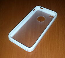 New White & Clear Apple Iphone 4 4S Silicone & Rigid Case Super Fast Shipping