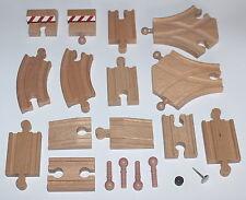Holzeisenbahn 20 Kleinschienen Kurven Reparatur Zapfen Set passend z Brio Heros