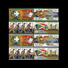 Burundi, Sc #460-67, C199-02, Imperf, MNH, 1974, UPU, Mailmen, Flags, CL107F