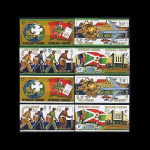 Burundi, Sc #460-63, C199-02, Imperf, MNH, 1974, UPU, Mailmen, Flags, RDDD-A