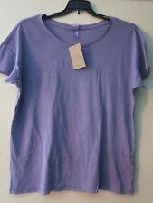 Alternative Earth Apparel Women's XL Lilac Purple Short Sleeve Shirt Top T-Shirt