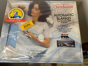 Sunbeam Elite Automatic Electric Blanket; Blue; Size King New