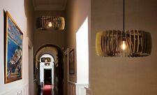 COIL, wood lamp, pendant light, ceiling lamp, decorative lamp, BRADABRADA