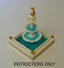 LEGO Instructions Only for Fountain 10x10 No Bricks Custom Build #2 Creator City